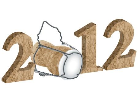last year: 2012 New Year Stock Photo