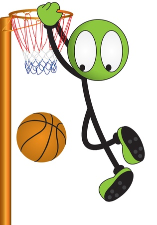 basket ball: puppet sport on a white background Stock Photo