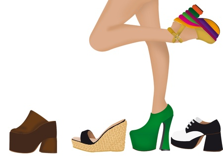 illustration de chaussures pour femmes Banque d'images