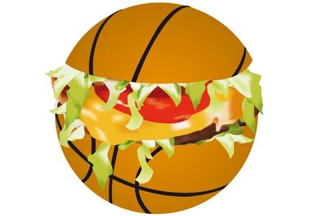 sandwich sports on a white background