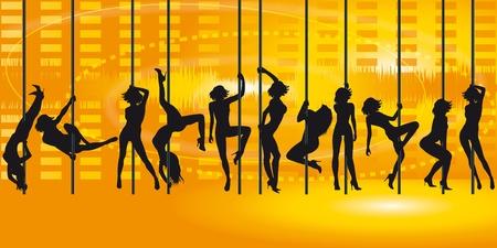 filles qui fait un tour de danse