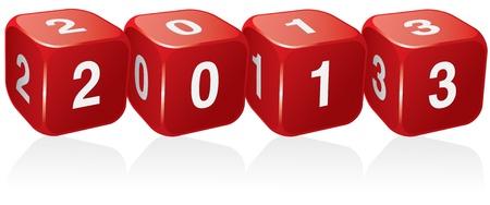 2013 sur le fond blanc