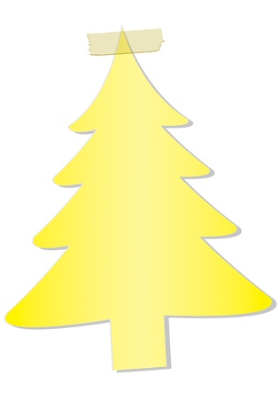 Christmas tree on a white background Stock Photo
