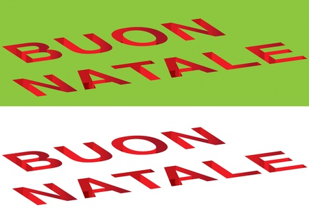 buon: Buon Natale on a whithe background