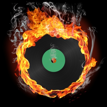 record flame Stock Photo