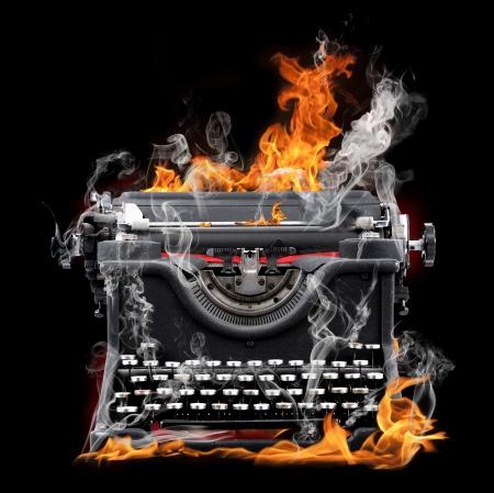 flamme machine � �crire Banque d'images