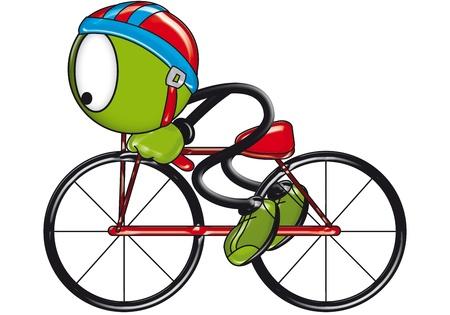 original bike: original funny puppet in white background