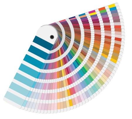 ilustraci�n de colores Pantone para impresi�n