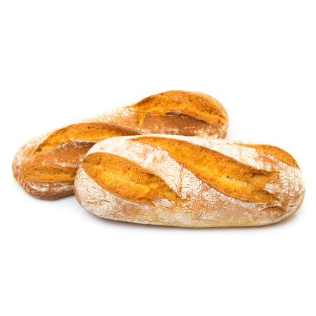 pan italiano en el fondo blanco