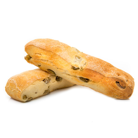 italian bread in white background Stock Photo