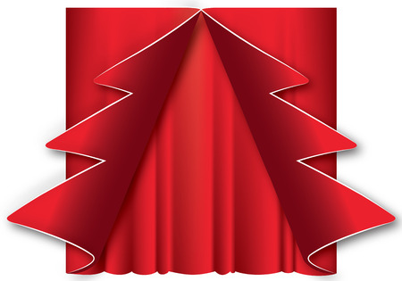 graphic illustration of a Christmas tree