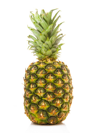 ie: fresh and savory pineapple on white background Stock Photo