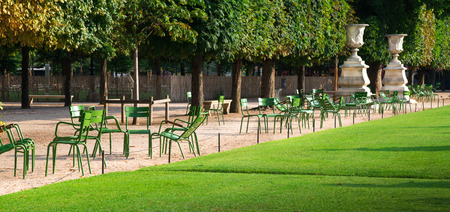 ie: view of the gardens des Tuileries in Paris