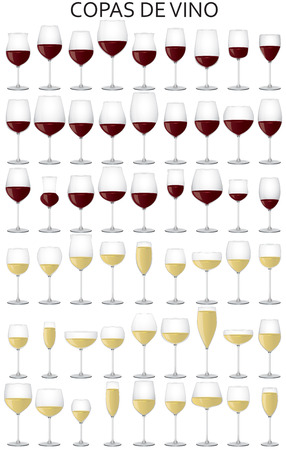 viticulture: graphic illustration of the Wine glasses