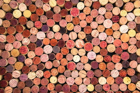 uncork: a background of colorful wine corks Stock Photo