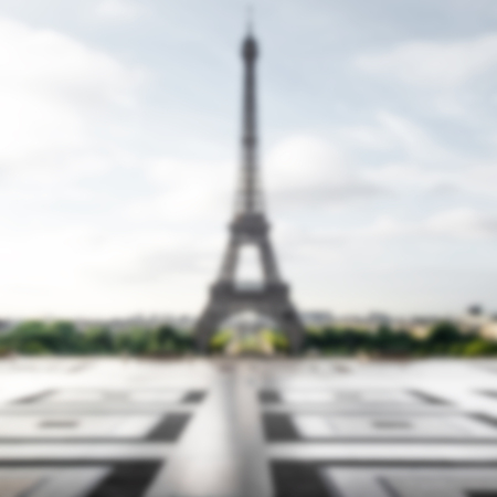 intentionally: Eiffel Tower background with intentionally blur effect applied
