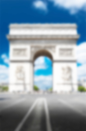 Paris background with intentionally blur effect Stock Photo
