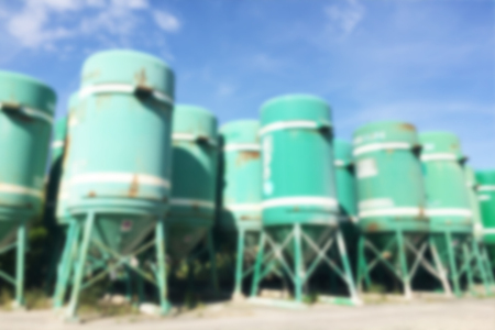 background industrial silos with blur filter applied