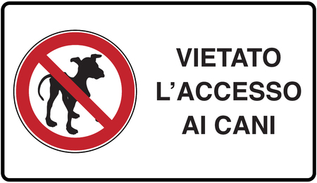 graphic illustration of the road signage no dog allowed