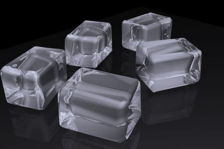 refrigerate: 3d ice Stock Photo