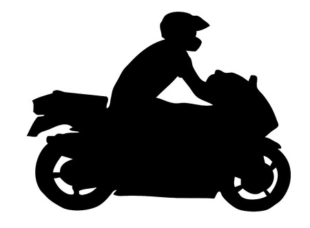 Motorcycle silhouette Illustration