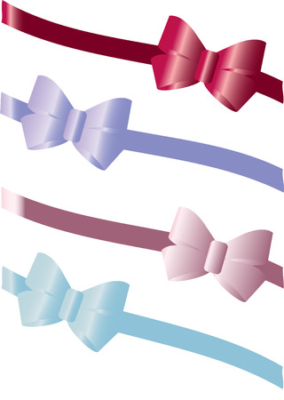 Colorful gift bows Vector