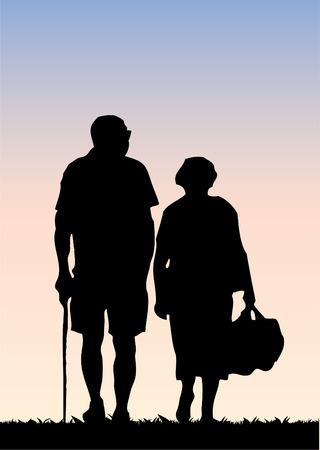 senior couple: Old couple  Illustration