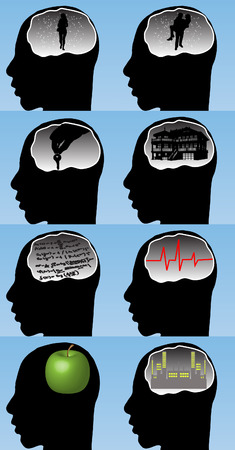 Human brain  Stock Vector - 7472334