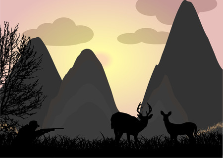 Deer hunting Vector