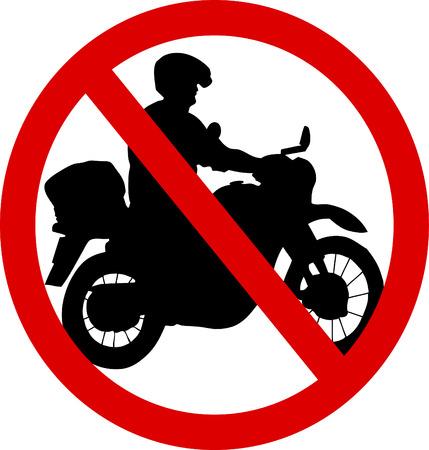 No motorcycle Vector