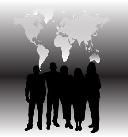 Working team Stock Vector - 8647117
