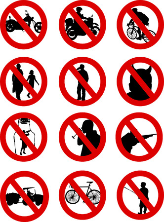 No signs Stock Vector - 8647125