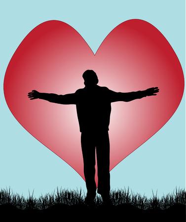 bras lev�: Gar�on amoureux