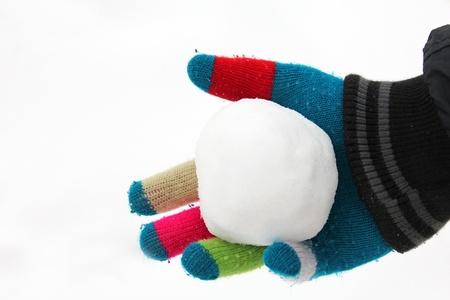 boule de neige: Boule de neige en main Banque d'images