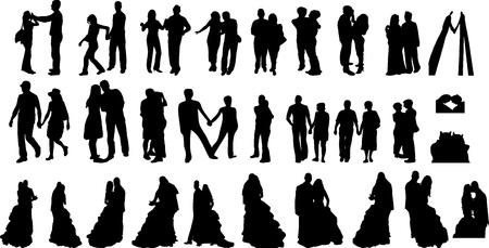 Silhouettes of couples Illustration
