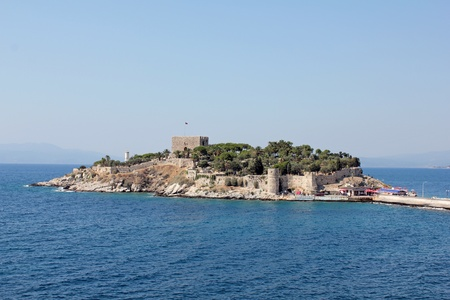 Kusadasi bird island Stock Photo
