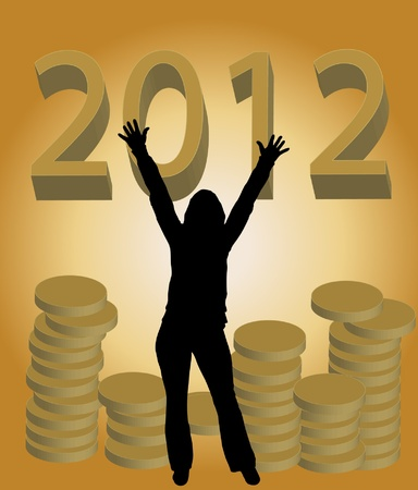 Happy 2012 Stock Vector - 11175988