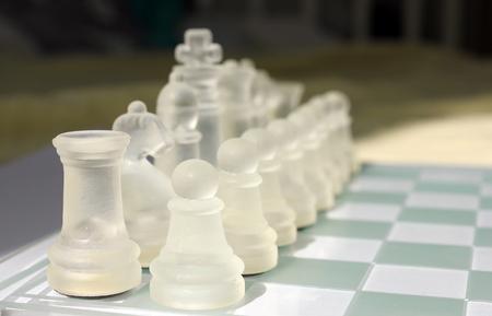Glass chess Stock Photo