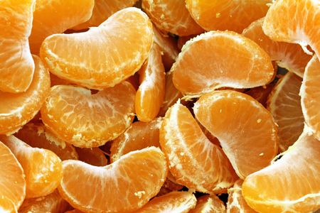 Orange mandarin or tangerine fruit background