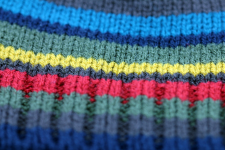 Knitted texture background close up