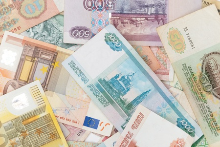 assorted world banknotes photo