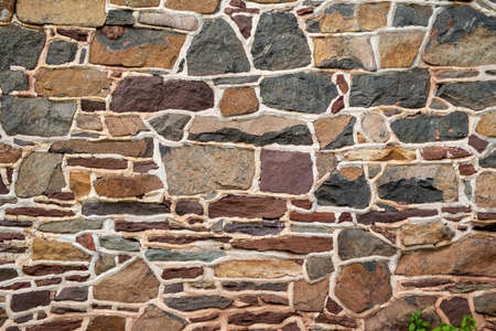 Gorgeous colonial Pennsylvania colorful stone wall