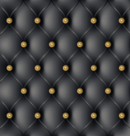 button tufted: Black Modern Leather Upholstery Background