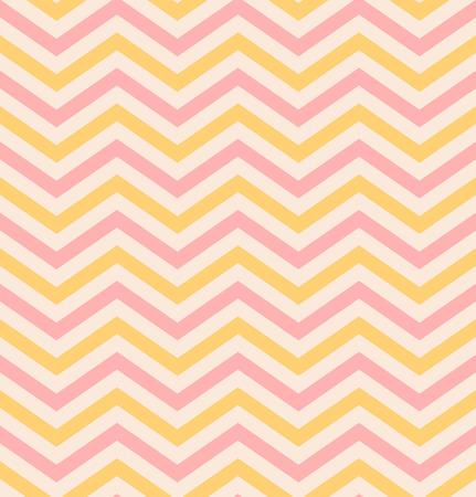 pop art herringbone pattern: Bright beige pink chevron seamless pattern background vector Illustration
