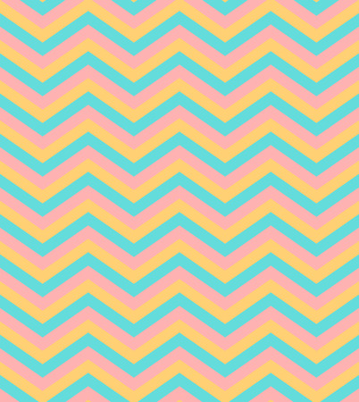pop art herringbone pattern: Bright beige and blue chevron seamless pattern background vector