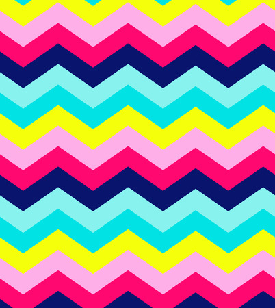 Blue, pink, red and turquoise chevron seamless abstract pattern background vector Illustration