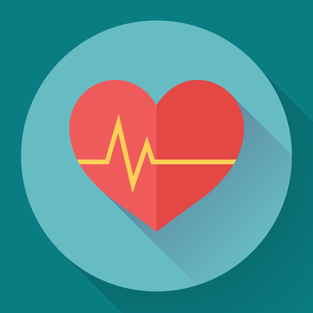 heart beats: Abstract World health day concept with heart and heart beats.