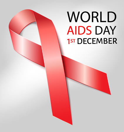 aids awareness: World Aids Day background with red ribbon of aids awareness