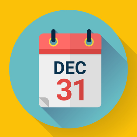 Calendar icon in flat style. Vector illustration.