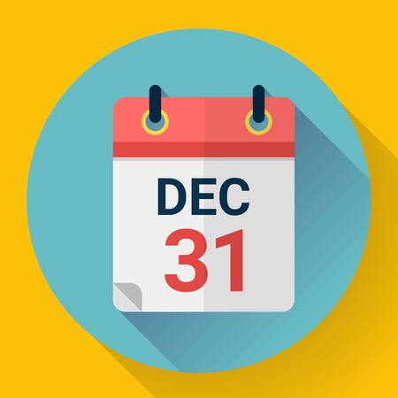 Calendar icon in flat style. Vector illustration.